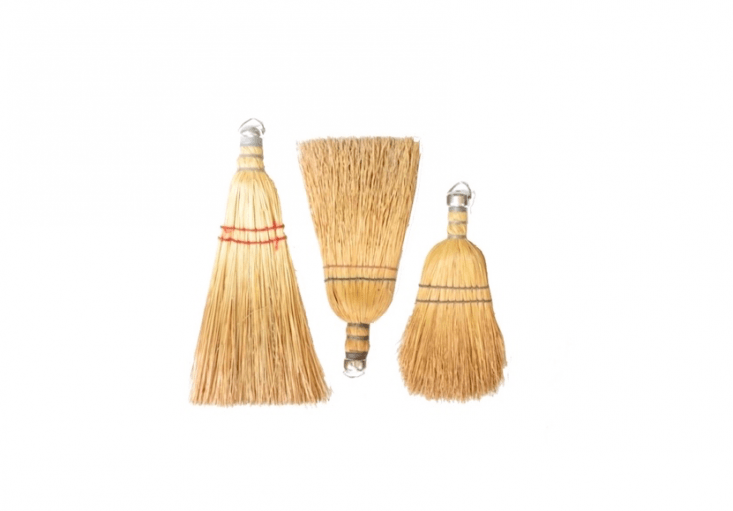 Another set of vintage Sweeper Brooms with straw bristles, dating to the 30s, is $36 from Armory Art and Antiques via Etsy.