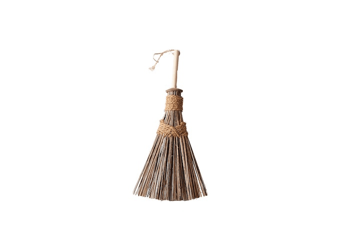 Handmade in Sri Lanka, a Coconut Outdoor Whisk Broom has a poplar handle and is $loading=