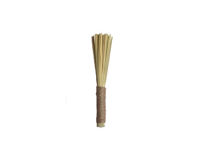 A 9-inch Mini Broomcorn Brush with a wrapped jute handle is $8 from Haydenville Broomworks.