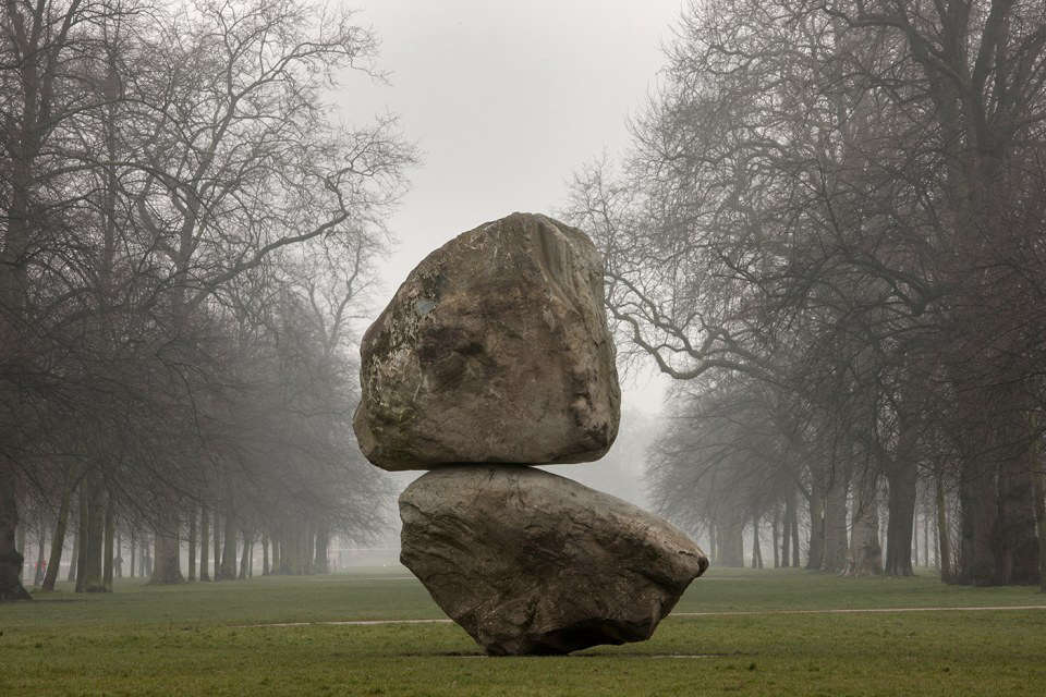 Rock on Top of Another Rock, by Peter Fischli and David Weiss, was on exhibit at the Serpentine Galleries in London from  to . For more information about exhibits, ticket prices, and visiting hours, see Serpentine Galleries.
