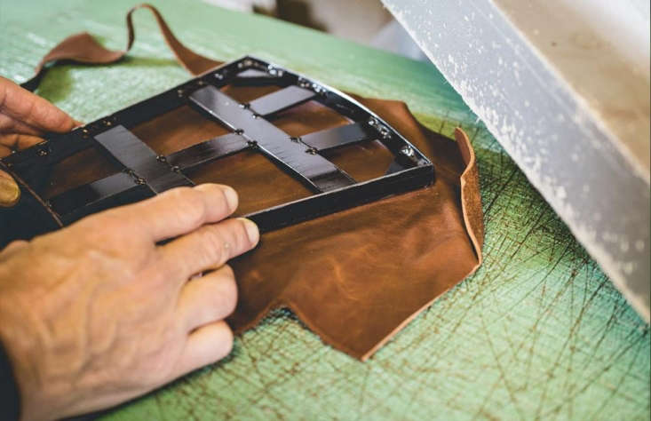 Hand-cut leather at Bradley&#8\2\17;s the Tannery.