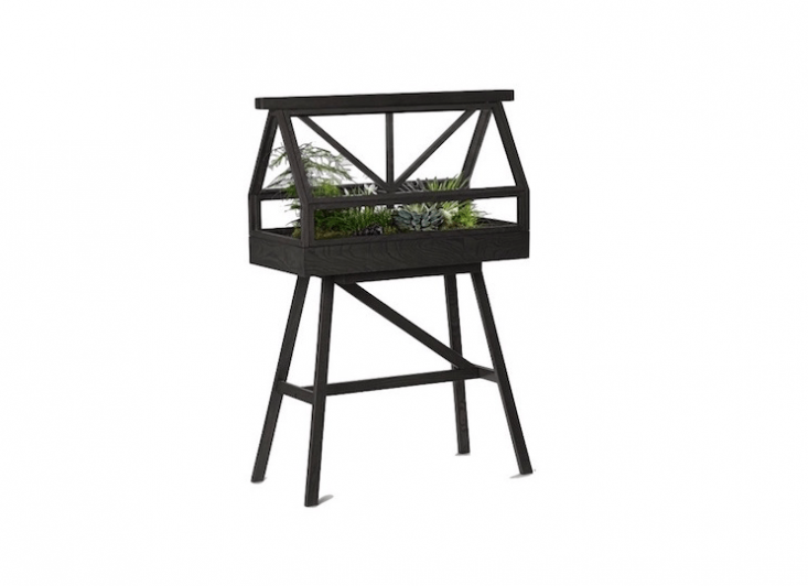 A Greenhouse Top (\$663.\20) and aGreenhouse Base (\$\2\24.80) are sold separately at Danish Design Store. The greenhouse unit measures38 inches wide by \16 inches deep and is \24 inches high.