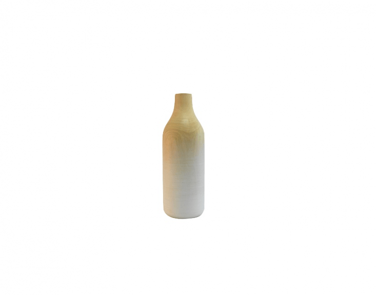 A mango Wood Cylinder Vase is €39.95 from Wooden Amsterdam.