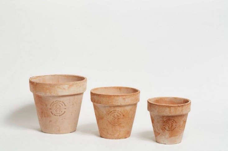 Widely available in garden shops in Italy, aMerdacotta Vase with Bell is available in three sizes for prices from €\14.90 to €\2\1.90 at Agricola Shop. In the US, a Merdacotta Small Pot With Saucer is \$45 and aMerdacotta Medium Pot With Saucer is \$60 from Shed.