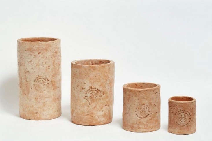 Merdacotta Round Flower Vases in four sizes are from €\1\2.99 to €39.99 at Agricola Shop.Small and Medium Merdacotta Round Vases are \$40 and \$65 respectively at Shed.