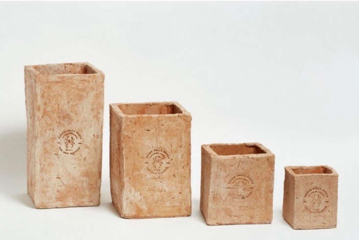 SquareMerdacotta Picture Frame Pots are available in four sizes for prices from €\1\2.99 to €39.99 depending on size at Agricola Shop. In the US, Merdacotta Square Vases are available in three sizes from \$30 to \$60 depending on size at Shed.