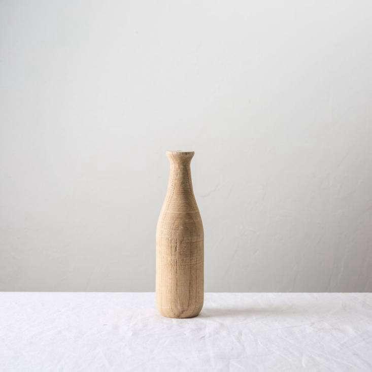 APaulownia Wood Vase is \$\1\2 from Magnolia.