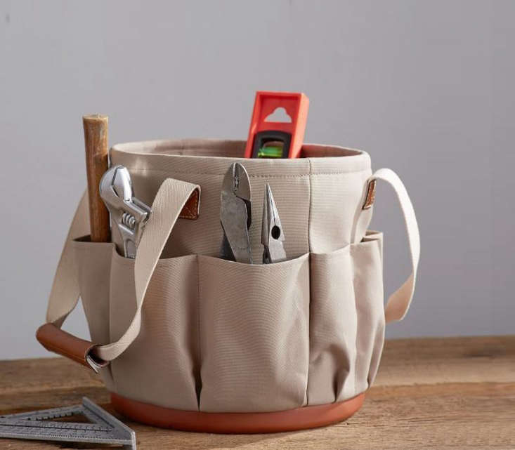 TheTool Caddy from Pottery Barn is made of polyester canvas to resist water. It&#8\2\17;s currently on sale for \$7\1.