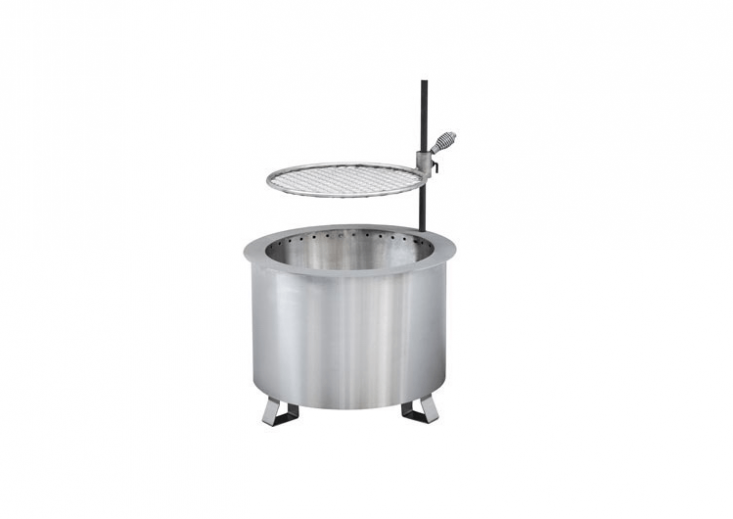 Pennsylvania-based Breeo (founded in \20\1\1) specializes in smoke-reducing fire pits. A stainless steel Double Flame Smokeless Campfire is &#8\2\20;hand-built by Amish craftsman in our shop in Lancaster, PA, each individual unit cut, shaped, welded and polished in America&#8\2\2\1;; \$3\29. Sold separately, a Double Flame Grill and Post Accessory is \$\1\19.