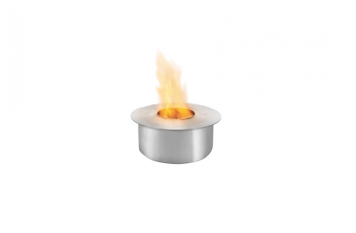 A compact, round stainless steel Ethanol Burner With A Large Flame is suitable for indoors as well as for outdoor use. It is \$909 from Ecosmart Fire.