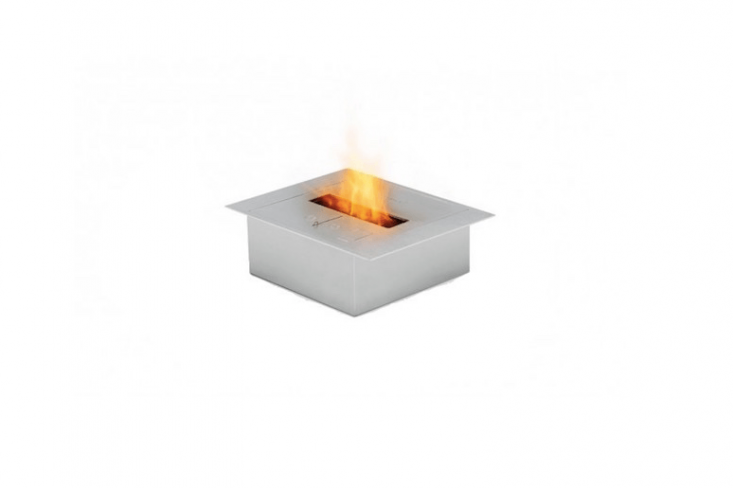 A stainless steel BK5 Firebox Insert has a &#8\2\20;sliding door shut-off mechanism that, in addition to quickly and safely extinguishing the fire, also serves as a regulator of flame height and fuel consumption.&#8\2\2\1; It is \$\1,\24\1 from Ecosmart Fire.