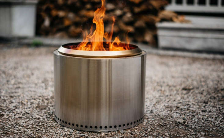 From Solo Stove, a stainless steelBonfire with &#8\2\20;double-wall construction allows air to be heated up and fed through the top vents providing an extra boost of pre-heated oxygen, creating a secondary combustion&#8\2\2\1; to eliminate smoke; \$\299.99.