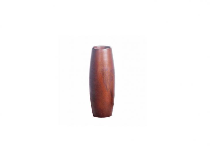 A handmade Teak Vase is \$3\1.95 from Just Paper Roses via Etsy.