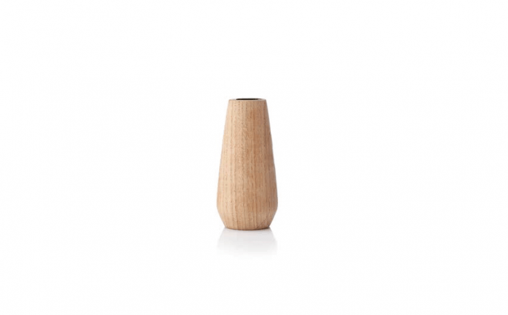 Designed by designed by Anders Nørgaard for Applicata, an oakTorso Vase is €30 from Connox.