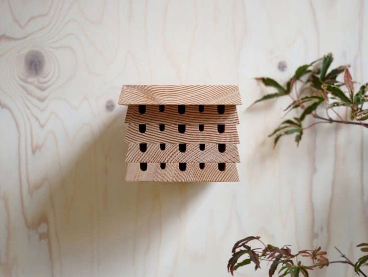 Designed by Lewis Mitchell, a Hive Five Bee House is made of solid Douglas fir treated with natural beeswax; \$64.33 at Really Well Made.