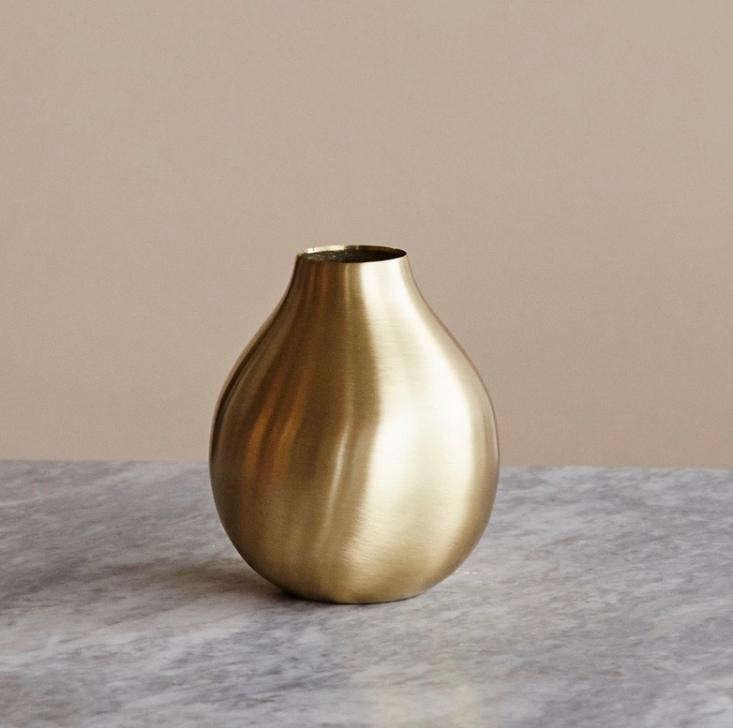 A \10-centimeterBrass Drop Vase is \249 SEK (about \$\29.66 US) at Artilleriet.