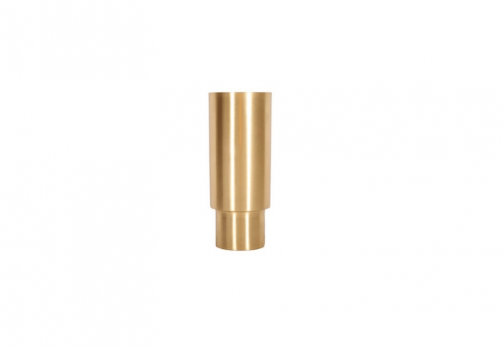 A Century Brass Vase with an anti-tarnish coating is \20 centimeters tall; \$79.95 from Melbourne-based Behr & Co.