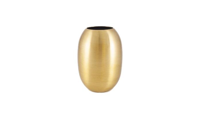 Designed in Copenhagen, a Small Brass Vase is £\20 from Hopscotch London.