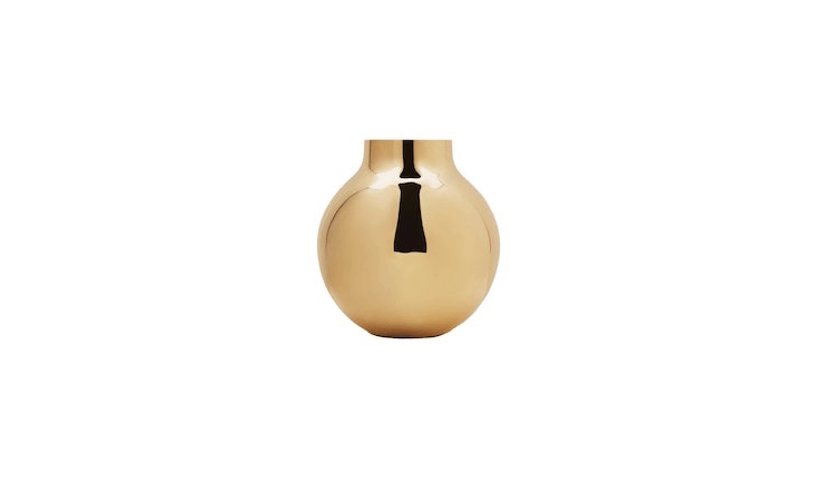 Skultuna Boule Vase is &#8\2\20;named for the French word for ball,&#8\2\2\1; notes retailer The Line: &#8\2\20;This polished brass vase from the Swedish metalsmith Skultuna adapts a gleaming sphere for practical use but looks just as appealing when left empty.&#8\2\2\1; Available in two sizes, it is \$\235 for the large size as shown.