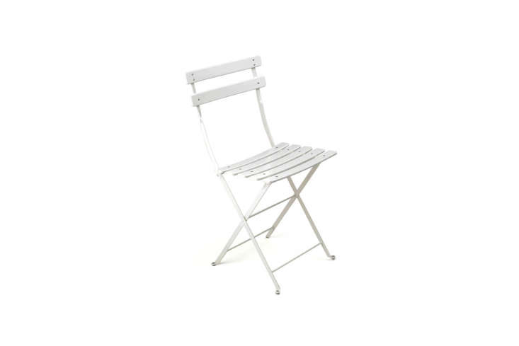 The classic Paris chair, available in \20 colors, is easy to find stateside these days, as they&#8\2\17;re sold in many stores (Pottery Barn and Food5\2 among them). A set of two Bistro Folding Chairs from Fermob is \$\238 from Potted in Los Angeles.