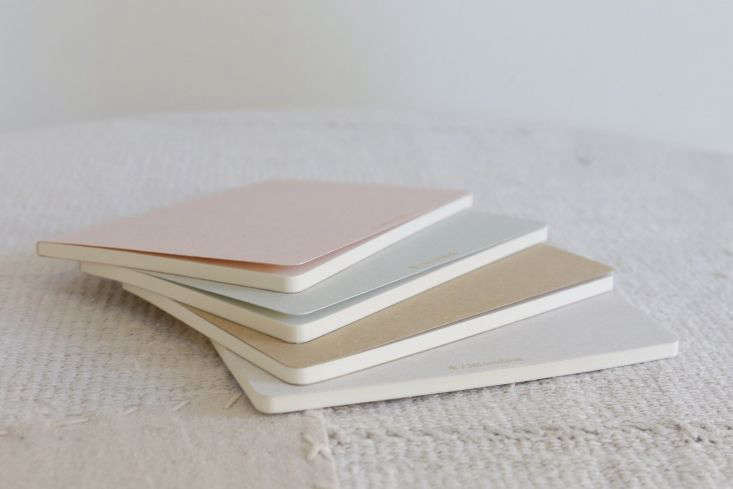 Made in Japan, a set of Four Seasons Notebooks comes with a ruled insert to guide your writing; \$\2\2 from Alder and Co.