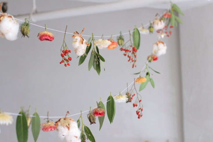 An autumn DIY from a tiny, artful luncheonette in the Pacific Northwest: seeAn Artful Botanical Garland by Måurice in Portland, OR, on Remodelista.
