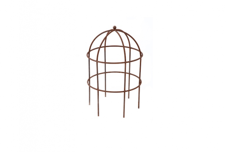 A Muntons Lobster Pot plant support cage, suitable for training clematis vines or roses, is available in two sizes at prices ranging from £5 to £5 depending on size at Muntons.