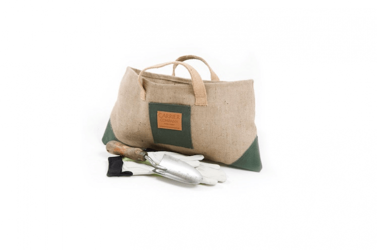 Short-listed at the Chelsea Flower Show as Garden Product of the Year and made at the request of garden designer Amanda Evans, aBack Door Gardening Bag is made of canvas and jute; £.50 (custom sizes available on request).