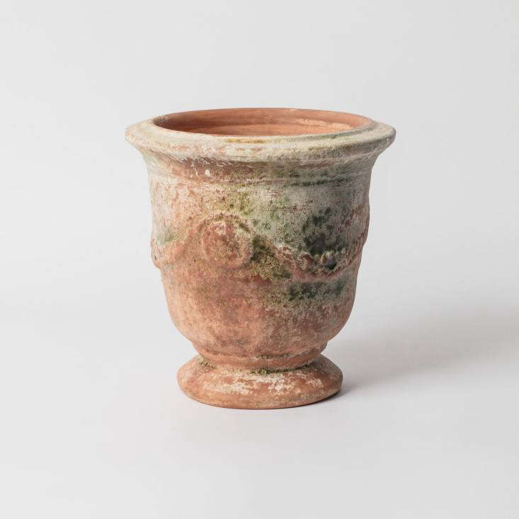A small handmade terra cotta Ampholia Poterie Anduze Vase named after the town in the south of France from which it originated is £75 at Petersham Nurseries.
