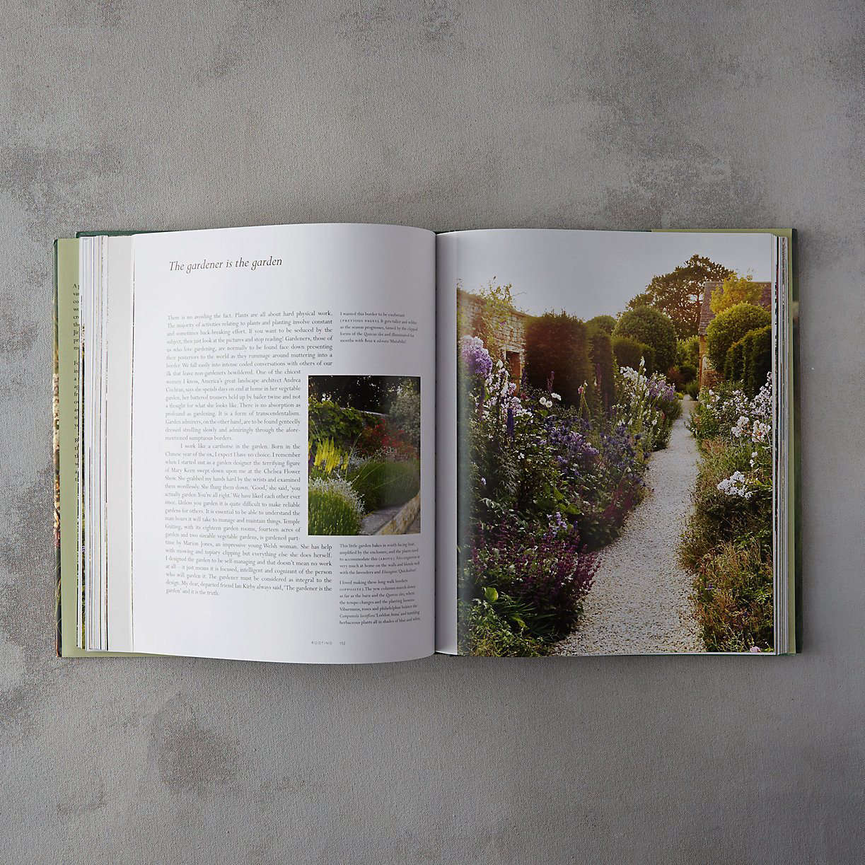 A hardcover copy ofThe Thoughtful Gardener by Jinny Blom is $50 at Terrain.