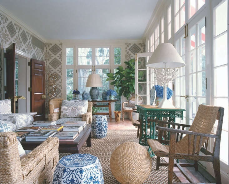 More is more seems to be the mantra for designer Tory Burch, at home on Long Island.