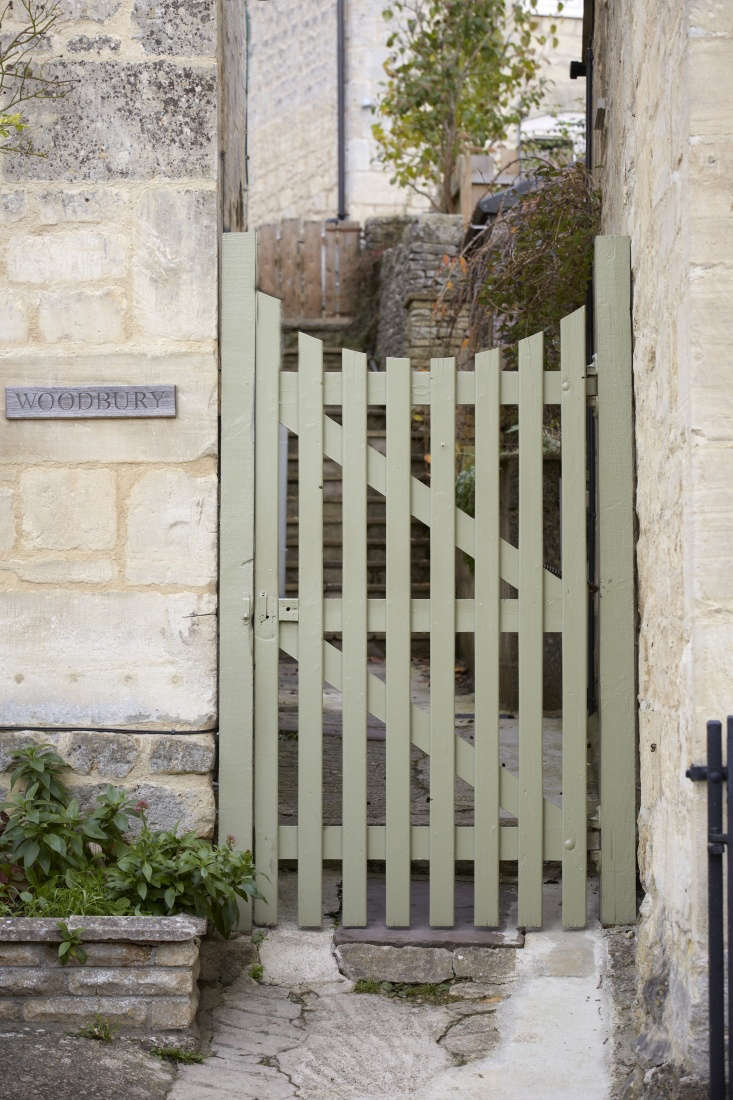 wooden gate green reverse arch by Britt Willoughby Dyer
