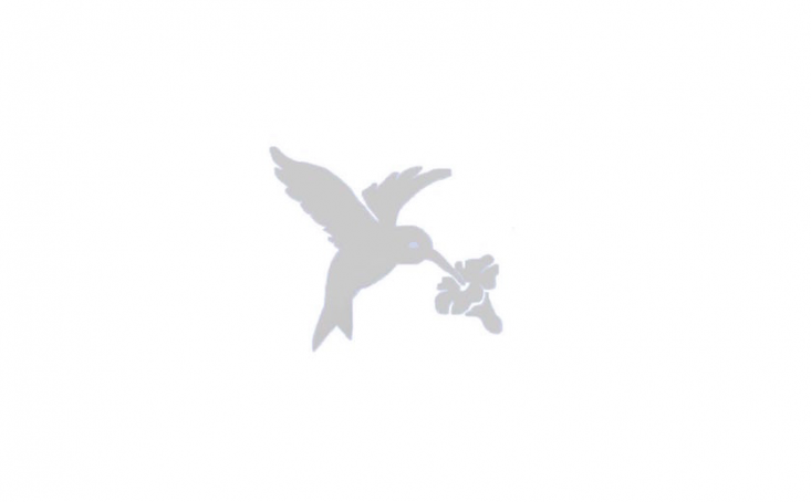 A package of four hummingbird decals are Window Alert Bird Saversand prevent feathered friends from flying into glass panes. &#8