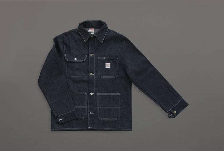 Labor & Wait in the UK cites the Denim Chore Coat from Filson as a go-to. It&#8\2\17;s £\140 (\$\186 USD) at Labor & Wait or contact Filson for US suppliers.