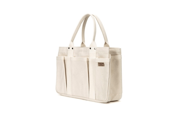 The Japan-made Matsunoya Heavy Canvas Tool Tote in natural canvas is \$\167 at Amazon.