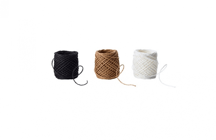 I cannot get enough twine. A Givande three-pack (with spools of black, beige, and white twine) is $