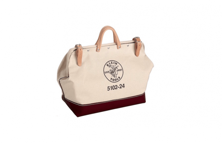 A \24-inch Canvas Tool Bag from Klein Tools is \$69.\1\1 from Amazon.