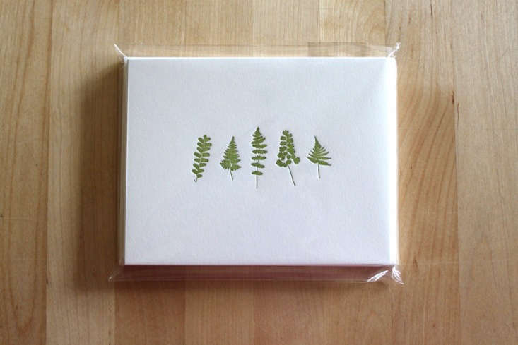 The perfect choice for gardeners who need to write thank you notes for all of their holiday gifts is a pack of six letterpress Fern Ensemble Notecards; $ from Moontree Letterpress.