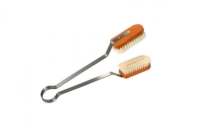 Keep dust off houseplant leaves with a cleverly designed Goat Hair Leaf Cleaning Brush With Oiled Pearwood Handle. From Germany-based Redecker (the designers with a specialized brush for every household purpose), it is \$40.99 at Amazon.