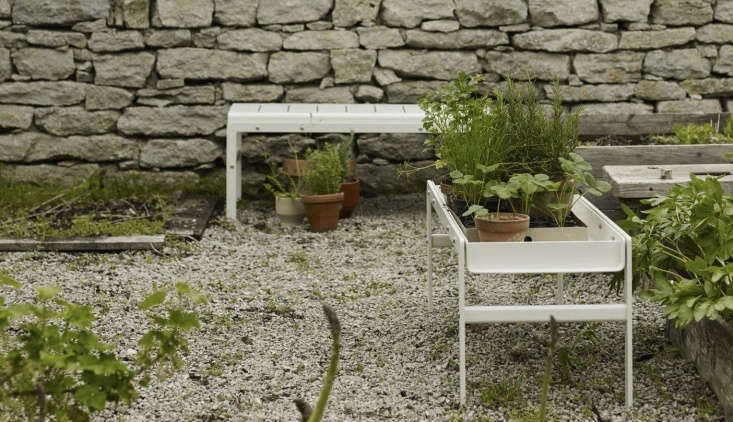 Here&#8\2\17;s the Reform bench in a silver white finish, available at Mjölk. It&#8\2\17;s also available in black; for details see Skagerak.