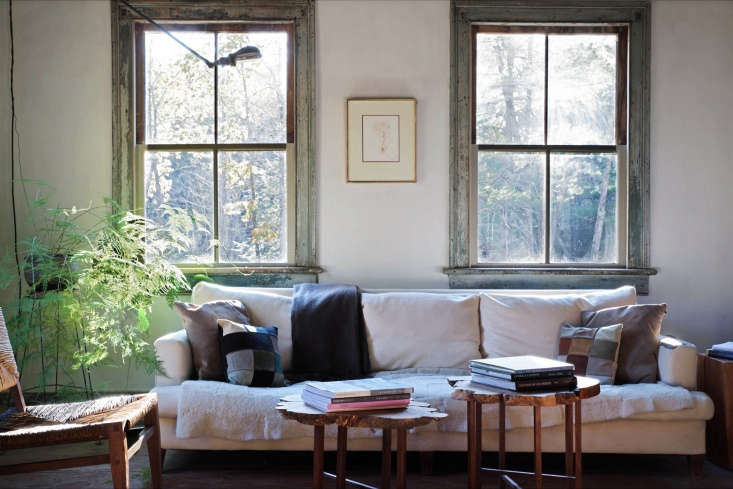 """&#8\2\20;For New YorkersDon Howell, an artisan furniture maker, and his partner, Ray Camano, the home's """"oxidation and decay"""" were part its charm,&#8\2\2\1; writes Justine in Saved from Abandonment: A Historic Hudson Valley Farmhouse Receives the Ultimate Makeunder. Photograph by Justine Hand for Remodelista."""