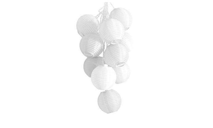 A 33-foot strand of \10 Garden Soji Solar String Lights comes with a rechargeable LED battery and is \$35.47 at Amazon.