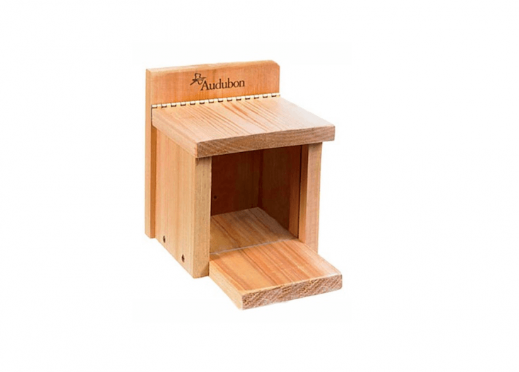 Squirrels are people too. A cedar Squirrel Feeder Box is $.95 from The Bird Watcher&#8