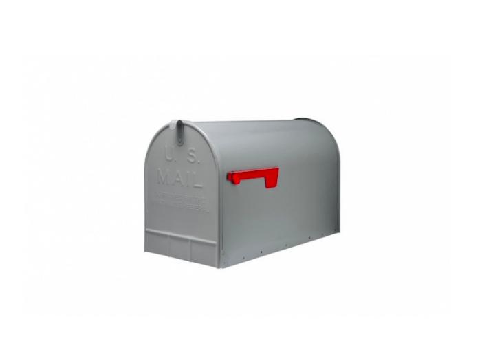 A silver-gray galvanized steel Post Mount Jumbo Mailbox is \$\29.0\2 at Amazon.