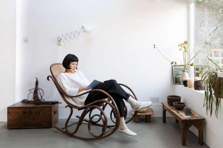 &#8\2\20;I bought the Thonet rocking chair from Ardingly Antiques Fair; it's quite an early one from the \1890s,&#8\2\2\1; says Yasuyo.