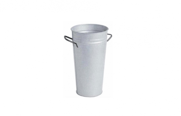A Gardenista favorite (metal florist buckets earned a spot on our list of Gardenista \100 essentials in theGardenista book), a powder coated galvanized steel Florist Bucket is a petite version suitable for use as a \10-8-inch-high vase; \$\2\2.8\1 on Amazon,