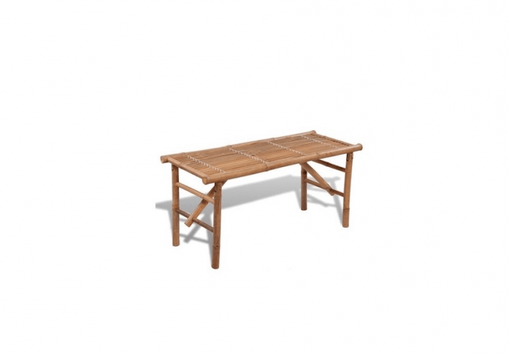 A collapsibleBamboo Bench is 46.5 inches long and is waterproof; €\28.99 from Vidaxl. TheBamboo Folding Bench also is available for \$5\1.\17 from Tom Tom.