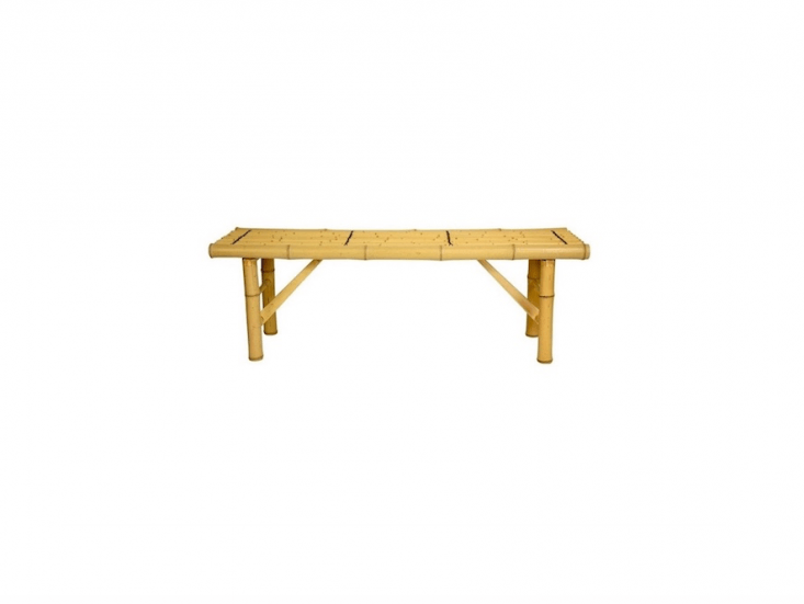 A Japanese Folding Bamboo Bench with collapsible legs is \$\1\10 from Oriental Furniture.