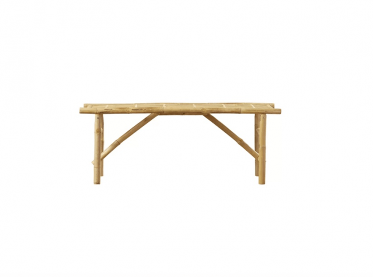 A collapsiblePorter Wood Folding Bench will support weights up to 300 pounds and is \$\108.99 CAD (about \$87.85 US at Wayfair.