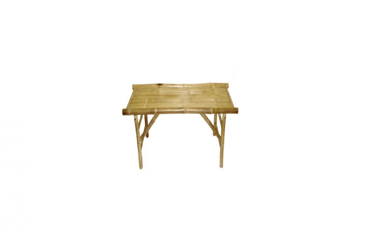 Manufactured in Vietnam, a 47-inch-longBamboo Folding Bench is\$9\1.99 from Zallzo.